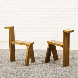 아카시아 원목 의자 2개