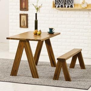 아카시아 원목 식탁 테이블 380 + 벤치1개