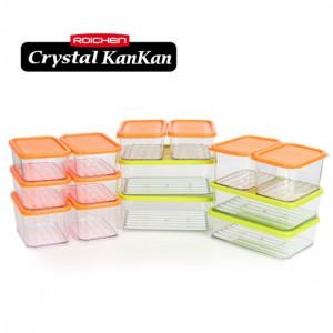 로이첸 크리스탈 칸칸 냉장고 정리용기 사각세트 (14조28p)