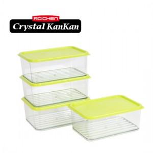 로이첸 크리스탈 칸칸 냉장고 정리용기 생선보관세트 (4조8p)