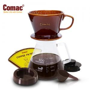 Comac 자기커피드립세트 800ml-DN6 [커피필터/커피드리퍼/유리포트/핸드드립/드립커피/드립용품/커피용품]
