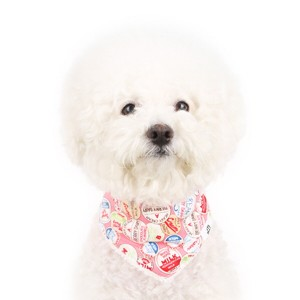 [이츠독] 웜 벨보아 스카프_pink 강아지스카프