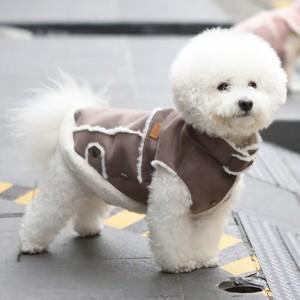 [이츠독] 스노우 라떼 무스탕_초코라떼 3XL 강아지옷