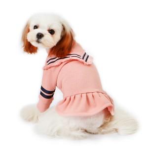 [이츠독] 러블리데이 테슬 원피스 강아지옷