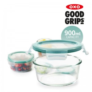 [OXO] 옥소 유리 밀폐용기 0.9L 원형