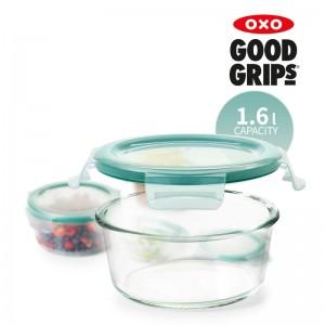 [OXO] 옥소 유리 밀폐용기 1.6L 원형