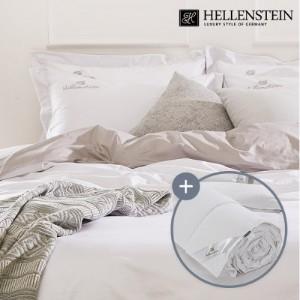 [헬렌스타인] 호텔콜렉션 100수 투톤 헝가리 사계절구스 침구세트 퀸(500g+침구)