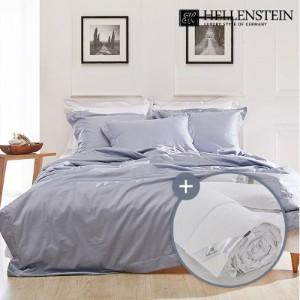 [헬렌스타인] 호텔콜렉션 100수 투톤 헝가리 사계절구스 침구세트 킹(600g+침구)