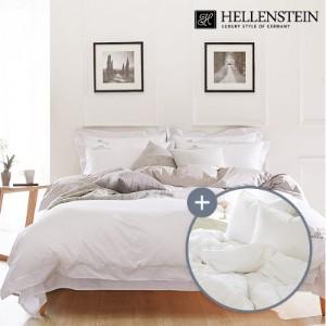 [헬렌스타인]호텔콜렉션 100수 투톤 사계절 덕다운 침구세트 퀸(500g+침구)
