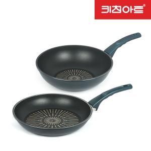 키친아트 티타늄 IH인덕션 까사 후라이팬 28후+28궁
