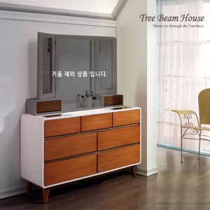 T-DEMI 원목 도장 와이드 서랍장
