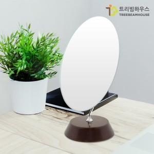 슬림 타원형 탁상 거울