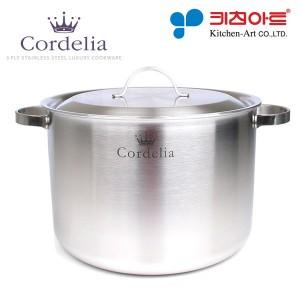 키친아트 코델리아(Cordelia) 통오중 스텐냄비 곰솥28cm + 실리콘손잡이