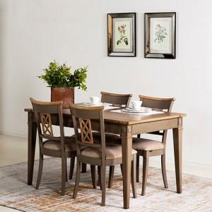[꼬떼따블] 쟈콥 다이닝 테이블 식탁 확장형 140cm + extension 50