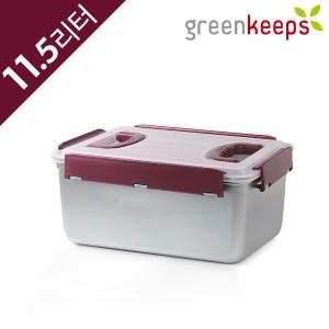 그린킵스 냉장고용 스텐 밀폐용기 김치통 GKP 11.5L 와인
