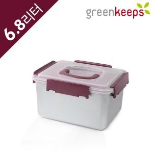 그린킵스 냉장고용 스텐 밀폐용기 김치통 GKP 6.8L 와인
