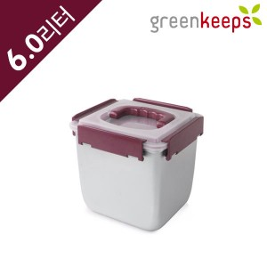 그린킵스 냉장고용 스텐 밀폐용기 김치통 GKP 6L 와인
