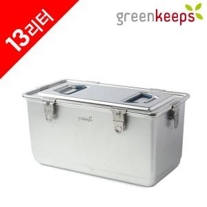 그린킵스 냉장고용 올스텐 밀폐용기 김치통 13리터