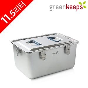 그린킵스 냉장고용 올스텐 밀폐용기 김치통 11.5리터