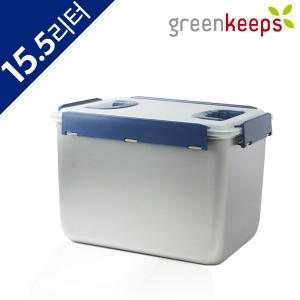 그린킵스 냉장고용 스텐 밀폐용기 김치통 15리터 GK-15.5P