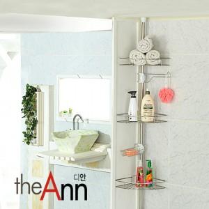 [TheAnn] 원터치 욕실코너선반 3단