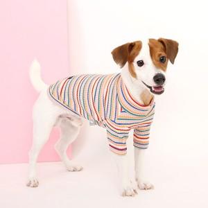 [이츠독]레인보우 티셔츠_Pink_2XL-3XL 강아지옷