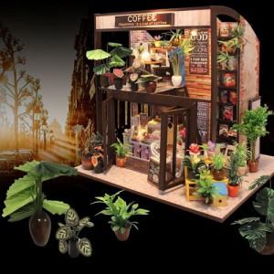 [adico] DIY 미니어처 풀하우스 - 커피하우스