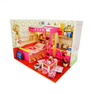 [adico] DIY 미니어처 하우스 - 핑크 커플 하우스