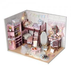 [adico] DIY 미니어처 하우스 - 핑크2층침대방 3