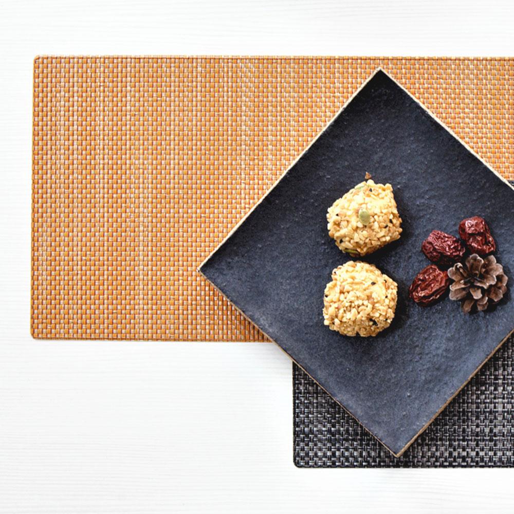 친환경 골드오렌지 사각 테이블매트 식탁매트