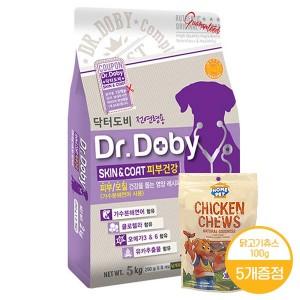 [닥터도비]스킨앤코트(피부)5kg+닭고기소세지100g증정X5개