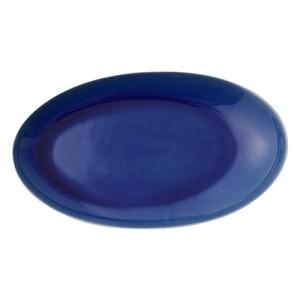 [francfranc] 세토 도자기 타원형 접시 L 블루 프랑프랑 1101090440604