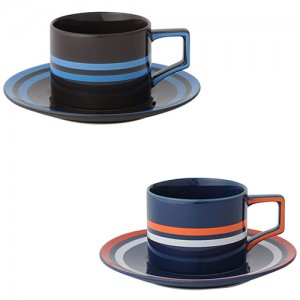 [francfranc] 삼색 스트리트 컵 & 컵받침 2종 세트 프랑프랑  1101090445800