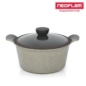 네오플램 세라믹 마블 냄비 양수 24cm