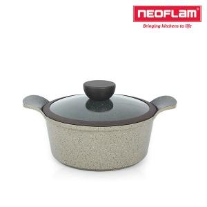 네오플램 세라믹 마블 냄비 양수 20cm