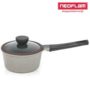 네오플램 세라믹 마블 냄비 편수 18cm