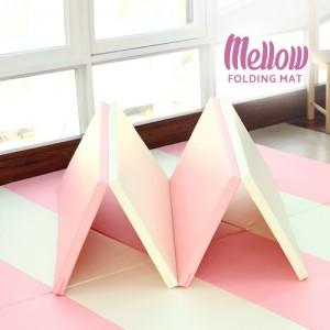 [멜로우폴더매트]멜로우 핑크크림 4단