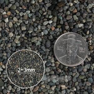 바닥재 흑사 모래 3.5kg 2/3mm