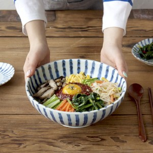 니코트 블루 스트라이프 비빔기 냉면기 JAPAN