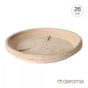 [데로마 Deroma] 테라코타 이태리토분 화분받침대 소토바소 로톤도.T(26cm)