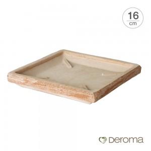 [데로마 Deroma] 테라코타 이태리토분 화분받침대 소토바소 콰드로.T(16cm)