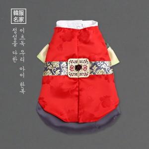 [이츠독] 이루마 색동 왕자한복 S-XL 강아지한복