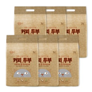 [착한두부] 고양이모래_커피 7LX6개