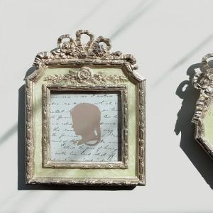 [꼬떼따블] 민트 리본 액자 사각형 11.6x15cm