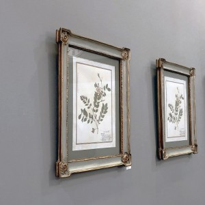 [꼬떼따블] 민트 골드 벽걸이 액자 25.8x30.8cm, 종류 2가지