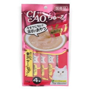 [이나바] 챠오 츄르 파우치 (참치+연어) SC-143 14gX4 고양이 간식
