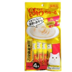 [이나바] 챠오 츄르 파우치 (닭가슴살+게) SC-76 14gX4 고양이 간식
