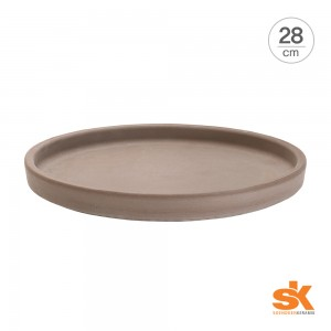 [S.K Since 1893] 테라코타 독일토분 화분받침대 라운드 소서(28cm)