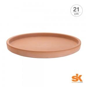 [S.K Since 1893] 테라코타 독일토분 화분받침대 라운드 소서(21cm)