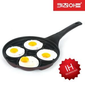 키친아트 금상첨화 IH인덕션 4구 멀티 에그팬 27cm